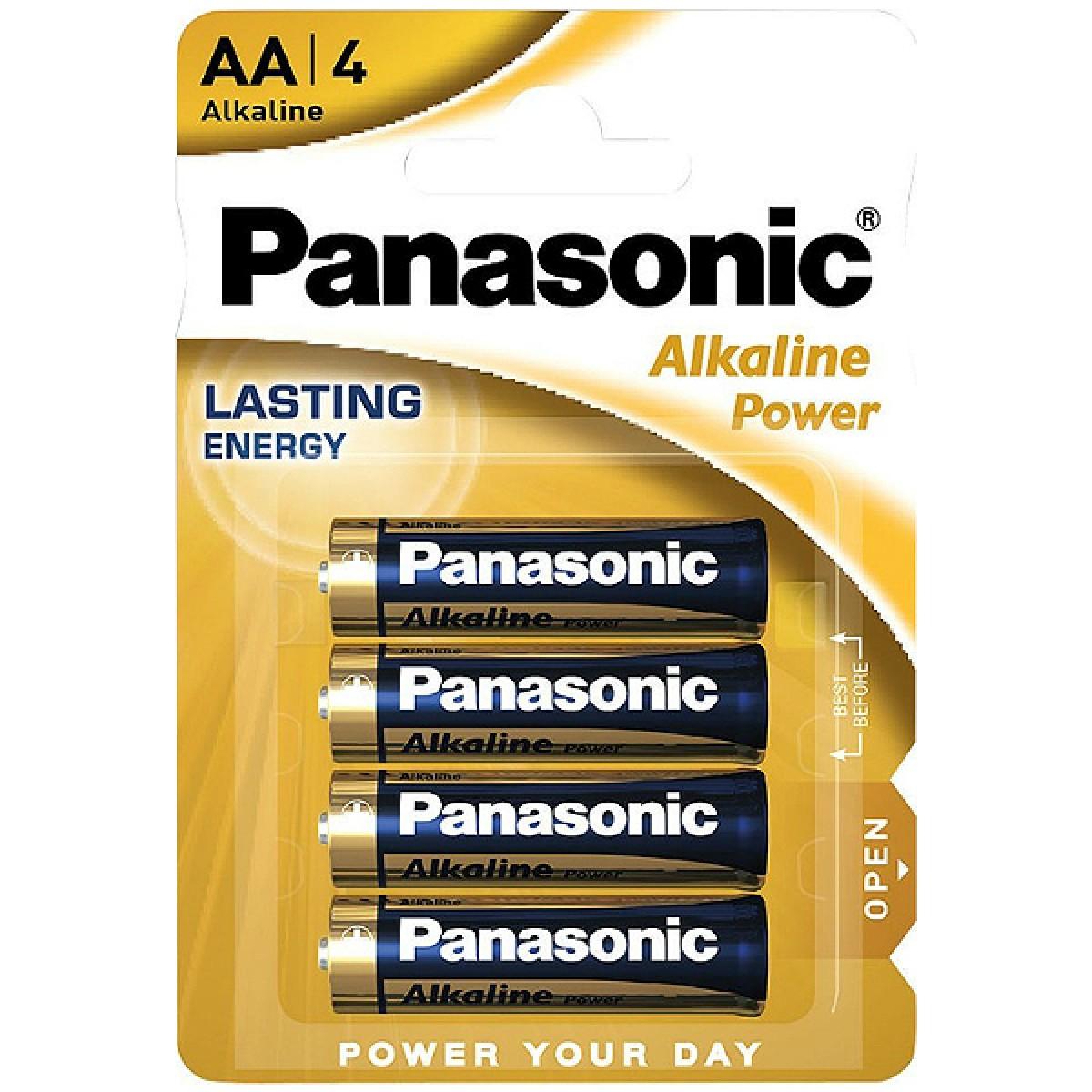 Alcaline Batteries Panasonic MN1500-Stilo AA LR6 4 x AA 1.5V